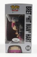 "Bret Hart Signed Pop! WWE #68 Bret ""Hit Man"" Hart Pop! Vinyl Figure Inscribed ""Hit Man"" (JSA COA) at PristineAuction.com"