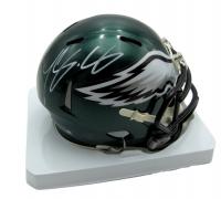 LeSean McCoy Signed Eagles Speed Mini-Helmet (JSA COA) at PristineAuction.com