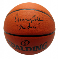 """Jerry West Signed Spalding NBA Game Ball Basketball Inscribed """"The Logo"""" (PSA COA) at PristineAuction.com"""