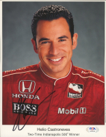 Helio Castroneves Signed 8x10 Photo (PSA COA) at PristineAuction.com