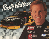 Rusty Wallace Signed 8x10 Photo (PSA COA) (See Description) at PristineAuction.com