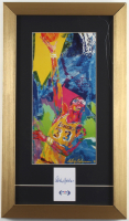 Kareem Abdul-Jabbar Signed 11x19 Cut Display with LeRoy Neiman LA Lakers Art Print (PSA COA) (See Description) at PristineAuction.com