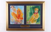 "Leroy Neiman ""Arnold Palmer & Jack Nicklaus"" 15x19 Custom Framed Print Display at PristineAuction.com"