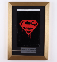 """Vintage 1992 """"The Death of Superman"""" Memorial Issue #75 DC 12x17 Custom Framed Comic Book Display at PristineAuction.com"""