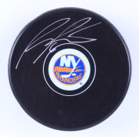 Ryan Pulock Signed New York Islanders Logo Hockey Puck (Pulock COA & YSMS Hologram) at PristineAuction.com