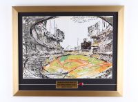 """LeRoy Neiman """"Sandy Koufax Fans 15"""" 18x22 Custom Framed Print Display with Pin at PristineAuction.com"""