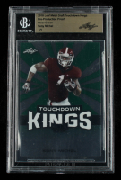 Sony Michel 2018 Leaf Metal Draft Touchdown Kings Clear Green #1/1 (BGS Encapsulated) at PristineAuction.com