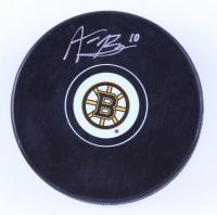 Anders Bjork Signed Bruins Logo Hockey Puck (Bjork Hologram & YSMS Hologram) at PristineAuction.com