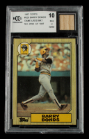 Barry Bonds 1987 Topps #320 RC Game-Used Bat (BCCG 10) at PristineAuction.com
