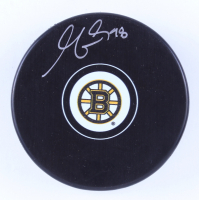 Matt Grzelcyk Signed Boston Bruins Logo Hockey Puck (Grzelcyk Hologram & YSMS COA) at PristineAuction.com