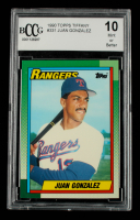 Juan Gonzalez 1990 Topps Tiffany #331 (BCCG 10) at PristineAuction.com