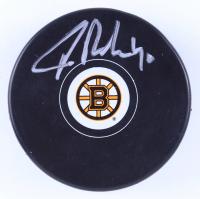 Tuukka Rask Signed Bruins Logo Hockey Puck (Rask COA & YSMS Hologram) at PristineAuction.com