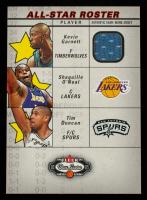 Kevin Garnett / Shaquille O'Neal / Tim Duncan 2002-03 Fleer Box Score All-Stars Roster Game-Used #ASR4 Jsy at PristineAuction.com