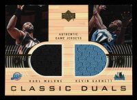 Karl Malone / Kevin Garnett 2001-02 Upper Deck Classic Duals Jerseys #KM/KG at PristineAuction.com