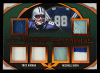 Troy Aikman / Michael Irvin 2019 Leaf Ultimate Sports Ultimate Combos Materials Bronze Spectrum Foil #UC13 #7/25 at PristineAuction.com