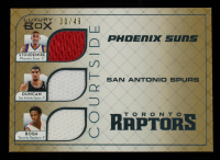 Amare Stoudemire / Tim Duncan / Chris Bosh 2007-08 Topps Luxury Box Courtside Triple Relics Gold #SDB #30/49 at PristineAuction.com