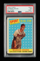 Warren Spahn 1958 Topps #494 AS (PSA 7) at PristineAuction.com