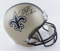 Drew Brees Signed Saints Full-Size Helmet (Beckett COA) (See Description) at PristineAuction.com