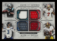 Robert Griffin III / Russell Wilson / Cam Newton / Colin Kaepernick 2014 Topps Museum Collection Quad Player Relics #FPQRNKWG at PristineAuction.com