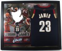 LeBron James Signed 35x44 Custom Framed Jersey Display (JSA LOA) at PristineAuction.com