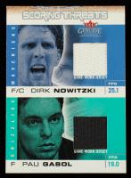 Dirk Nowitzki / Paul Gasol 2003-04 Fleer Genuine Insider Scoring Threats Game Used Dual #5 at PristineAuction.com