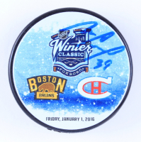 Mike Condon Signed 2016 Winter Classic Logo Hockey Puck (Condon COA & YSMS Hologram) at PristineAuction.com