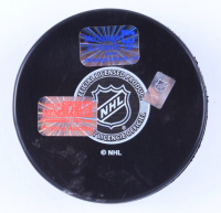"""Ryan McDonagh Signed Lightning Logo Hockey Puck Inscribed """"Party in the Bay"""" (McDonagh COA & YSMS Hologram) at PristineAuction.com"""