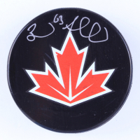 Brad Marchand Signed 2016 World Cup of Hockey Team Canada Logo Hockey Puck (Marchand COA & YSMS Hologram) at PristineAuction.com