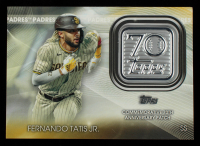 Fernando Tatis Jr. 2021 Topps 70th Anniversary Commemorative Logo Patches #T70PFT S2 at PristineAuction.com
