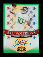 Justin Herbert 2020 Leaf Valiant All American Green #AAJH2 #29/75 at PristineAuction.com