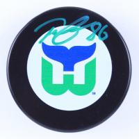 Teuvo Teravainen Signed Whalers Throwback Logo Hockey Puck (Teravainen COA & YSMS Hologram) at PristineAuction.com