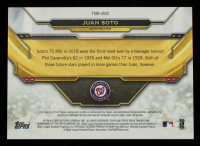 Juan Soto 2019 Topps Triple Threads Autograph Relics #TTARJSO3 #7/18 at PristineAuction.com