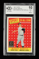 Mickey Mantle 1997 Topps Mantle #25 / 1958 Topps AS (BCCG 10) at PristineAuction.com
