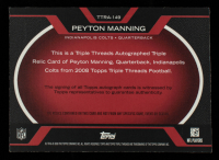 Peyton Manning 2008 Topps Triple Threads Autographed Relic Red #TTRA149 #4/4 at PristineAuction.com