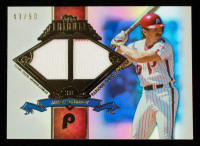 Mike Schmidt 2013 Topps Tribute Famous Four Baggers Relics Blue #MS #43/50 at PristineAuction.com