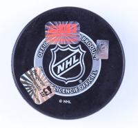 "Patrice Bergeron Signed Bruins Logo Hockey Puck Inscribed ""Captain"" (Bergeron COA & YSMS Hologram) at PristineAuction.com"