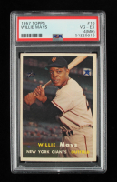 Willie Mays 1957 Topps #10 (PSA 4) (MK) at PristineAuction.com