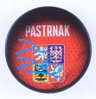 David Pastrnak Signed 2016 World Cup Czech Republic Logo Hockey Puck (Pastrnak COA & YSMS Hologram) at PristineAuction.com