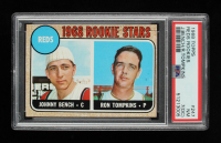 Johnny Bench RC / Ron Tompkins 1968 Topps #247 Rookie Stars (PSA 7) (OC) at PristineAuction.com