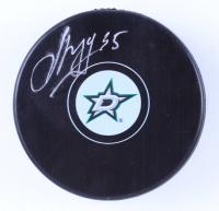 Anton Khudobin Signed Stars Logo Hockey Puck (Khudobin COA) at PristineAuction.com