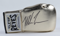 Mike Tyson Signed Cleto Reyes Gold Boxing Glove (PSA COA) at PristineAuction.com