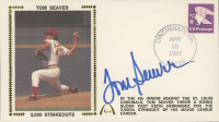 "Tom Seaver Signed ""Tom Seaver: 3,000 Strikeouts"" 1981 FDC Envelope (JSA COA) at PristineAuction.com"