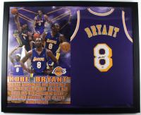 Kobe Bryant Signed 34x43 Custom Framed Jersey Display (PSA COA) (See Description) at PristineAuction.com