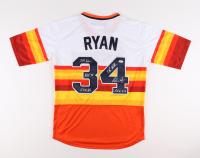 "Nolan Ryan Signed Astros Jersey Inscribed ""324 Wins, H.O.F. 99, 5,714 Strikeouts, 7 No-Hitters, E.R.Q. 3.19"" (PSA COA) at PristineAuction.com"