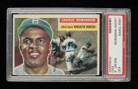 Jackie Robinson 1956 Topps #30 DP (PSA 8) (OC) at PristineAuction.com