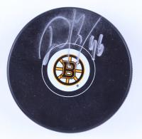 David Krejci Signed Bruins Logo Hockey Puck (Krejci COA & YSMS Hologram) (See Description) at PristineAuction.com
