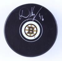 David Krejci Signed Bruins Logo Hockey Puck (Krejci COA & YSMS Hologram) at PristineAuction.com