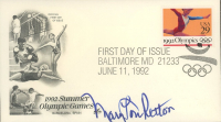 """Mary Lou Retton Signed """"1992 Summer Olympics"""" 1988 FDC Envelope (JSA COA) at PristineAuction.com"""