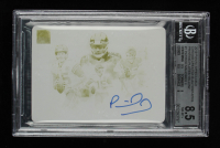 Patrick Mahomes II 2019 Panini Impeccable Canvas Creations Autographs Printing Plates Yellow #1 (BGS 8.5) at PristineAuction.com
