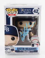 Austin Meadows Signed Rays #42 Funko Pop! Vinyl Figure (MLB Hologram) at PristineAuction.com
